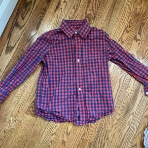 Gap boys shirt navy and red checked size s (6-7)